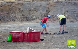 Preparazione scavo paleontologico