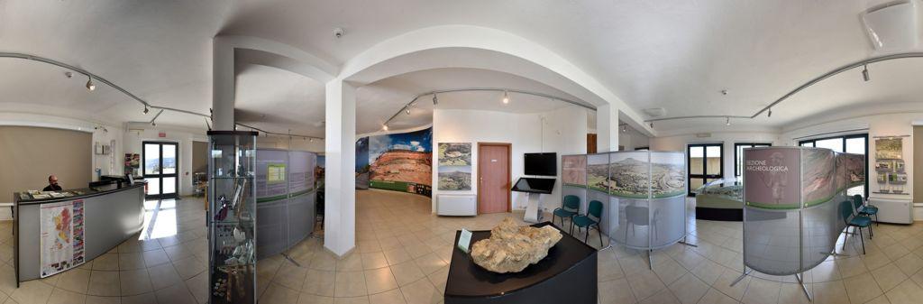 Sezione archeologica e blocco fossili parc Genoni