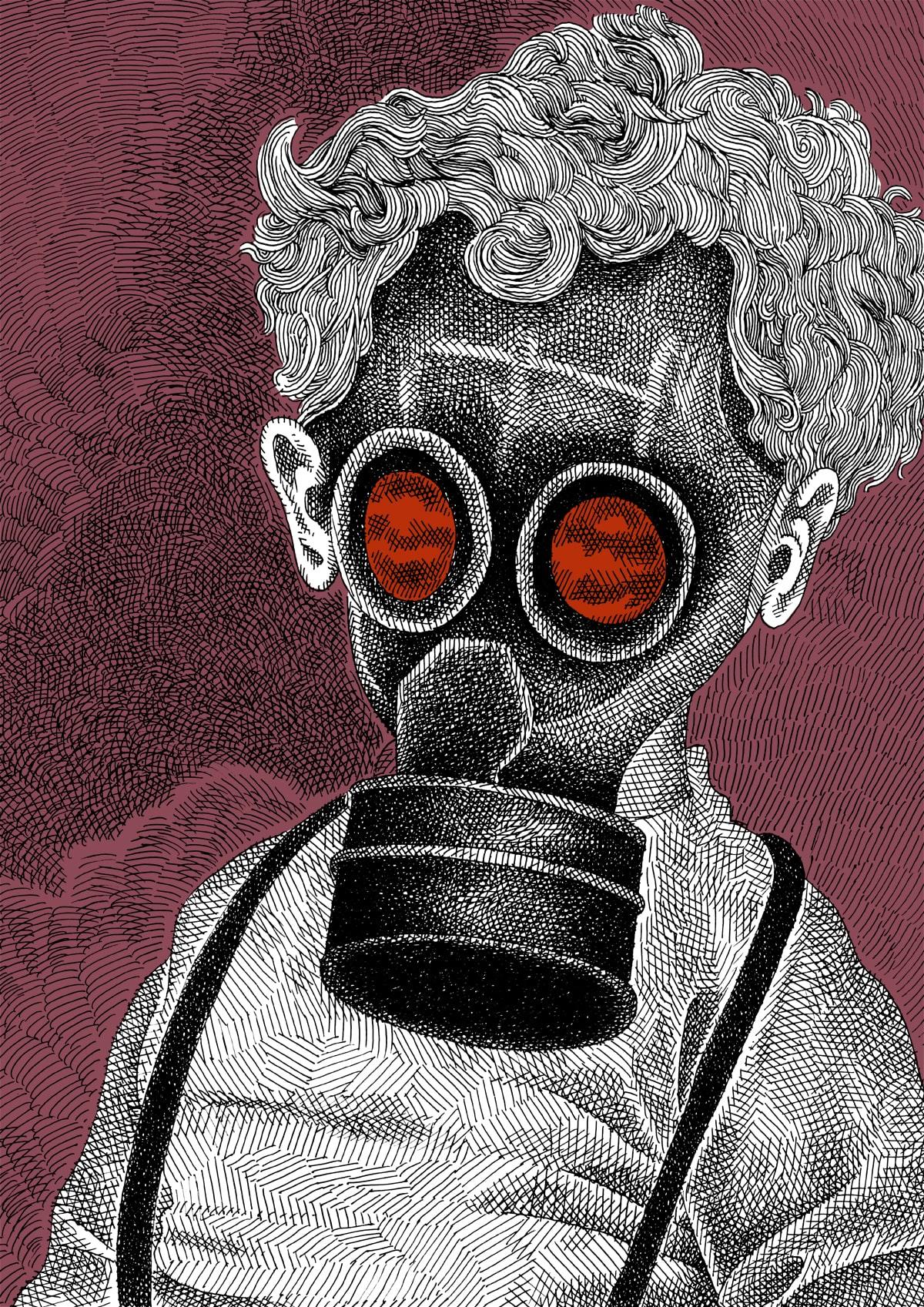 Illustrazione la maschera